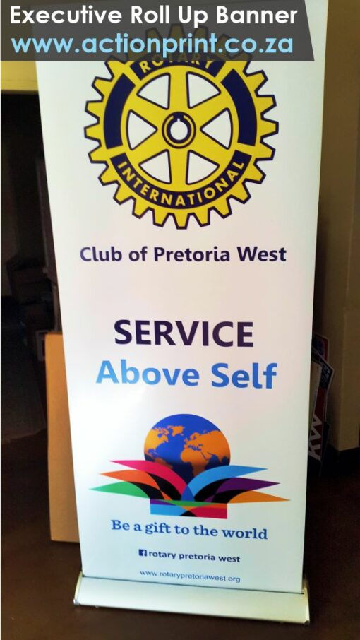 Executive pull up banner