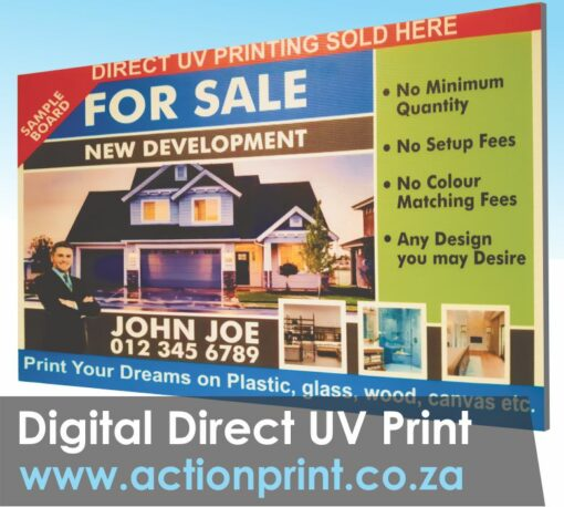 Full colour for sale board