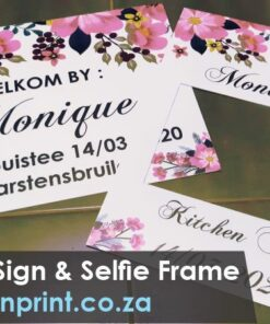 Welcome Sign Selfie Frame